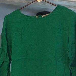 Green 3/4 Sleeve Blouse